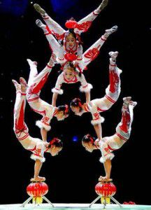 Acrobatics Human Tower