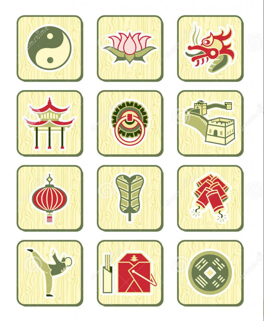 Traditional Chinese symbol icons