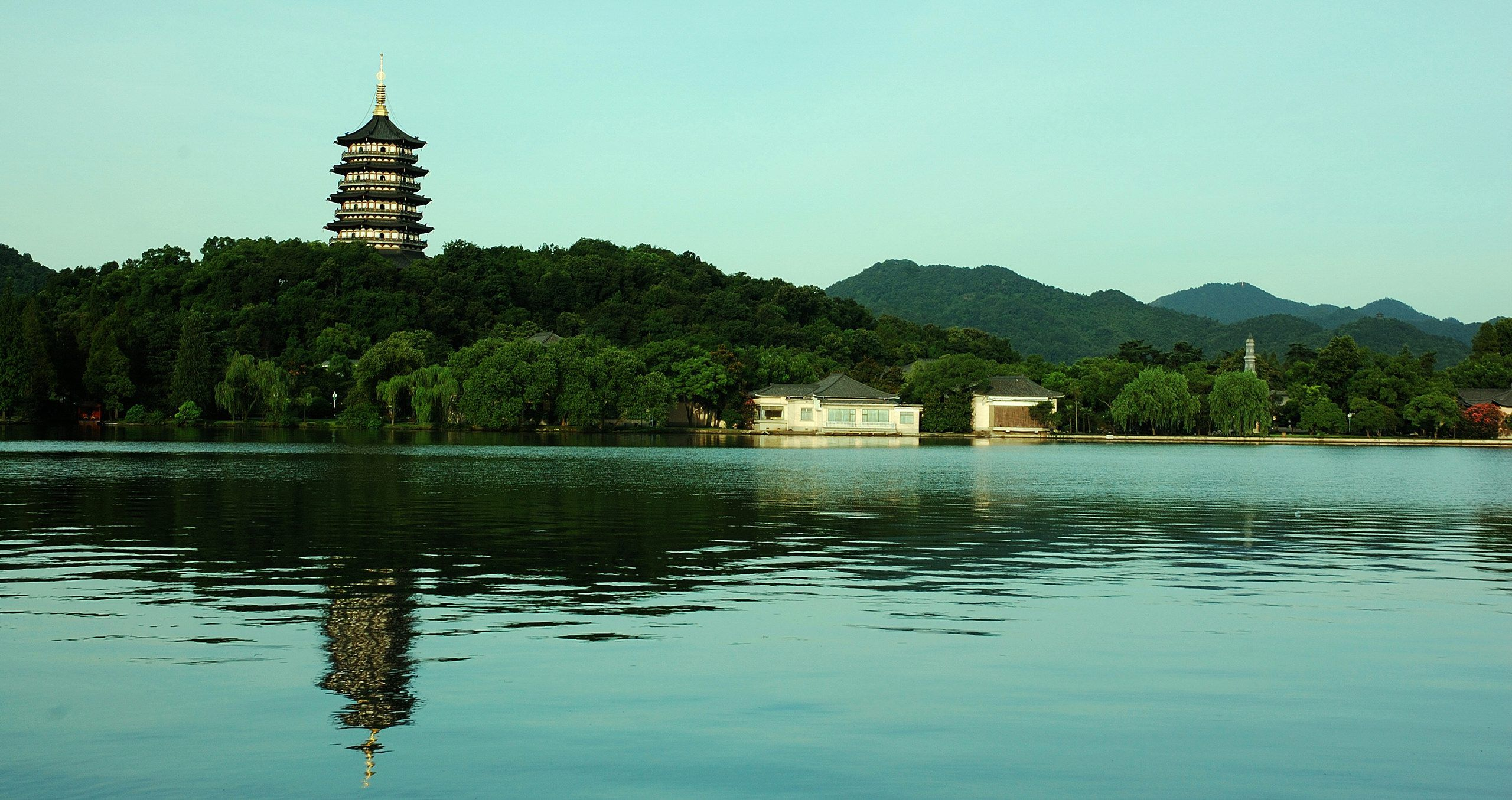 The West Lake In City Of Hangzhou